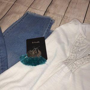 LC Lauren Conrad Jeans - Lauren Conrad Fringe Skinny Capri